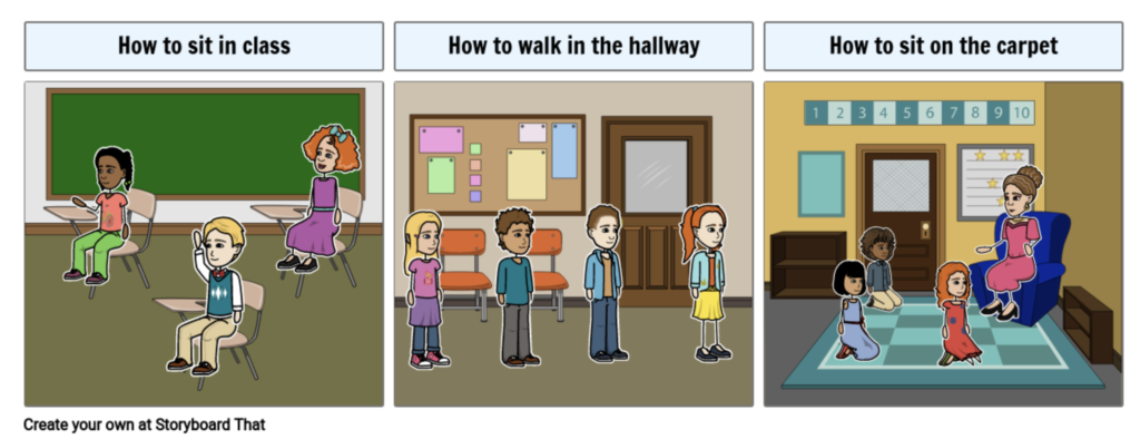 Classroom Expectations created using Storyboard That.